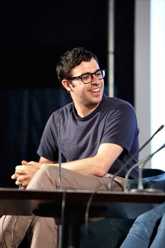 July 18: Simon Bird talking on the Film Arena stage (Picture: Jonathan Birch)