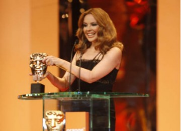 Pop princess Kylie Minogue opened the ceremony at the Royal Opera House by presenting the Music category (BAFTA / Marc Hoberman).