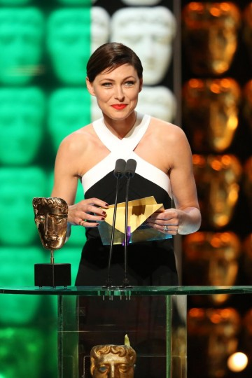 Emma Willis presents the award for Reality and Constructed Factual