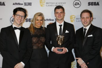 The BAFTA for Audio Achievement was presented by Katy Hill and musician Dan Croll to the creators of Alien: Isolation.