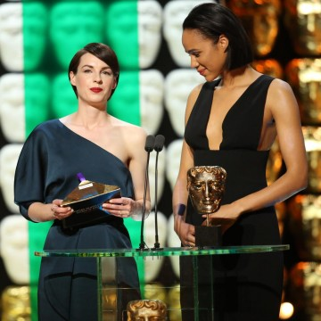Zawe Ashton and Jessica Raine present the award for Specialist Factual