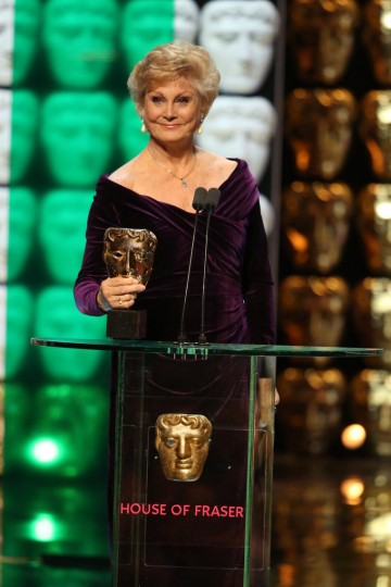Angela Rippon presents the award for News Coverage