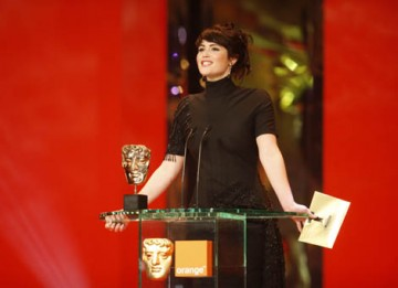 Bond girl and St Trinian's star Gemma Arterton appeared on stage to present the Sound Category (BAFTA / Marc Hoberman).