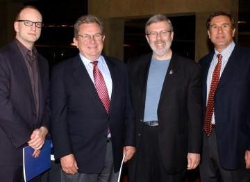 Steven Soderbergh, Gary Dartnall, Leonard Maltin and Donald Haber