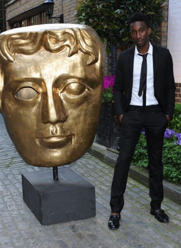 The Misfits actor arrives at the Television Craft Awards to present the BAFTA for Sound: Fiction.