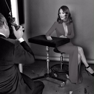 Julianne Moore in the backstage portrait area at London's Royal Opera House.