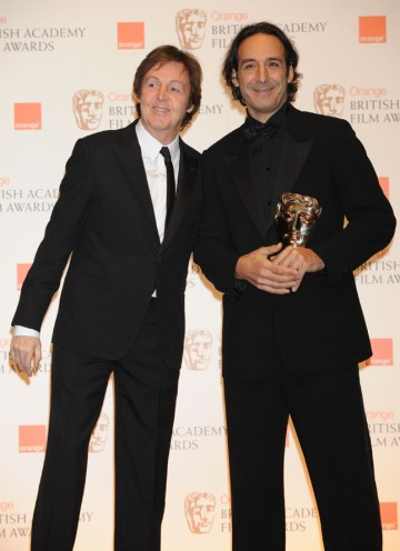 Sir Paul McCartney with The King's Speech composer Alexandre Desplat. (Pic: BAFTA/Richard Kendal)