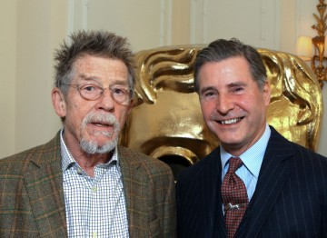 John Hurt with Jeremy Hackett, the founder and chairman of Hackett London, official Menswear Stylist for the 2012 BAFTA Film Awards.