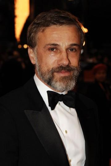 A bearded Christoph Waltz arrives hoping to gather Best Supporting Actor for his portrayal of sinister Nazi colonel in Inglourious Basterds (BAFTA/Richard Kendal)