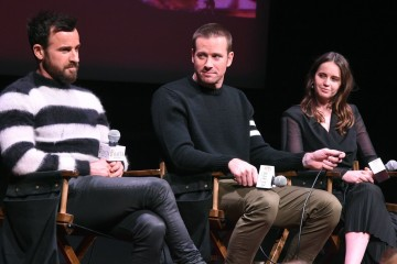 Justin Theroux, Armie Hammer, and Felicity Jones