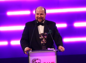 Markus Persson receives the BAFTA Special Award in recognition of his phenomenal achievement with block-building game Minecraft.