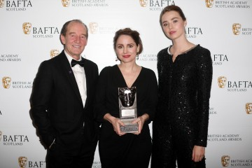 Laura  Fraser with citation readers David Hayman & Freya Mavor, Actress Television
