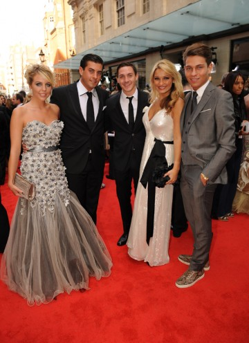 Some of the cast of The Only Way Is Essex, which is nominated for the YouTube Audience Award. (Pic: BAFTA/Richard Kendal)