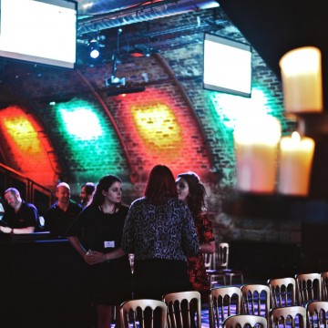 Winners and guests at Glasgow's Arches for the British Academy Scotland New Talent Awards on 25 March 2014.