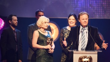 Gigglebiz collects the BAFTA for Pre-School Live Action at the British Academy Children's Awards in 2015