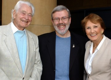 Ken Annakin, Leonard Maltin and Pauline Annakin