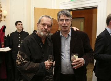 Director and Monty Python member Terry Gilliam (left) with Nik Powell, film producer and head of the NFTS.