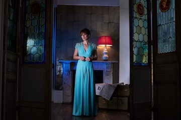 Hair: Mark Hill. Makeup: M.A.C. Dress: Ted Baker at House of Fraser