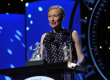 Tilda Swinton, recipient of the Britannia Award for British Artist of the Year