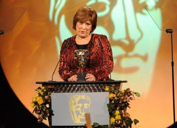 TV actress Lynda Bellignham announced the winner of the Production Design BAFTA.