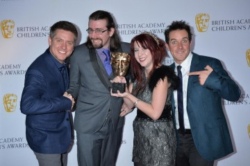 Splatoon wins the Game category at the British Academy Children's Awards in 2015, presented by Dick and Dom.
