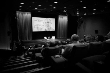The audience takes their seats for Jimmy McGovern's Screenwriters' Lecture.