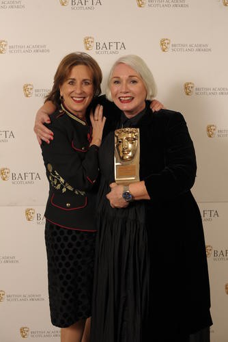 Christine Cant (Outstanding Contribution to Craft) with citation reader Kirsty Wark