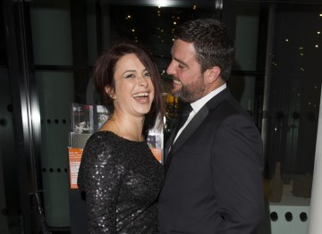 Star of Frankie and Torchwood, Eve Myles enjoys the evening with her partner Bradley Freegard