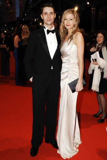 A 'not so' Single Man Matthew Goode poses with his guest (BAFTA/Richard Kendal).