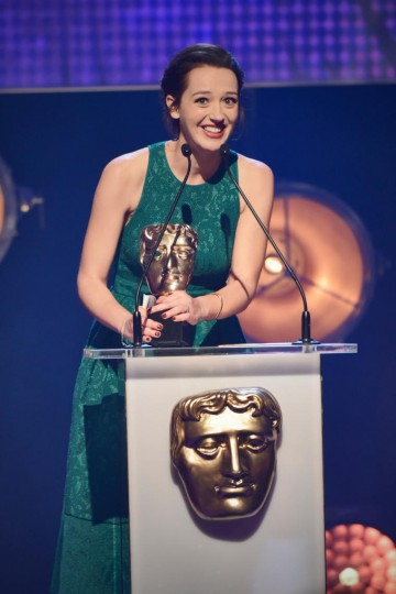 Jessica Ransom collects the BAFTA for Performer at the British Academy Children's Awards in 2015