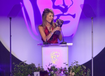 Jacqueline Fowler, Make-Up Artist on The Crimson Petal and the White receives the BAFTA for Make-Up and Hair Design, sponsored by MAC.