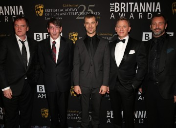 From left: the night's honorees Quentin Tarantino, Will Wright, Matt Stone, Daniel Craig, Trey Parker.