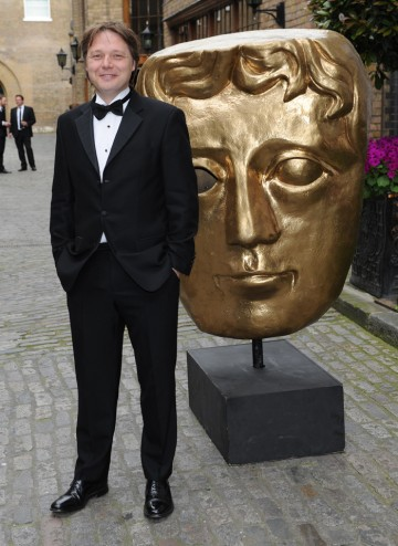 Film and TV actor Shaun Dooley arrives to present the Writer category at the British Academy Television Craft Awards.