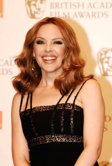 Pop starlet Kylie Minogue presented the Sound BAFTA to A R Rahman for his work on Danny Boyle's Slumdog Millionaire (BAFTA/ Richard Kendal).