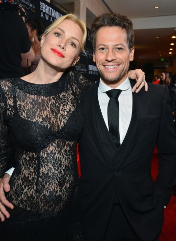 Welsh actor Ioan Gruffudd smiles for the camera with actress Alice Evans.