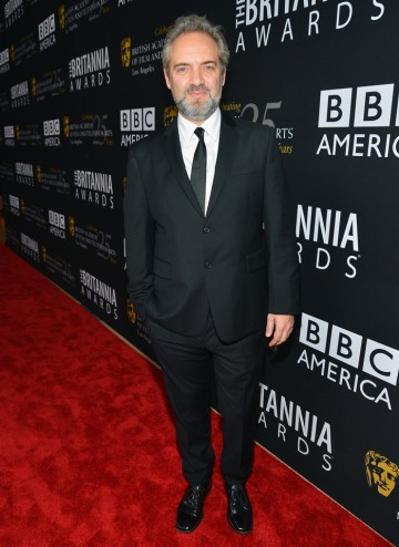Skyfall director Sam Mendes was there to celebrate Daniel Craig's Britannia Award for British Artist of the Year.
