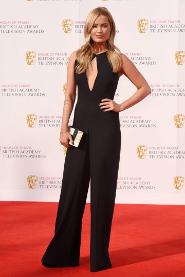 Laura Whitmore dressed in House of Fraser works the red carpet