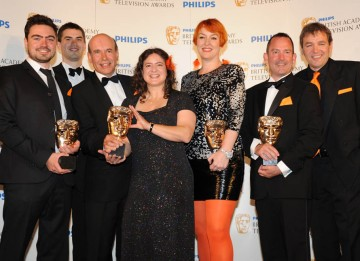 Inside Nature's Giants recieve the Specialist Factual BAFTA (BAFTA/Richard Kendal).