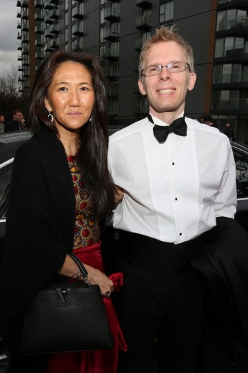 John Cormack and Katherine Anne Kang walk the red carpet at the British Academy Games Awards