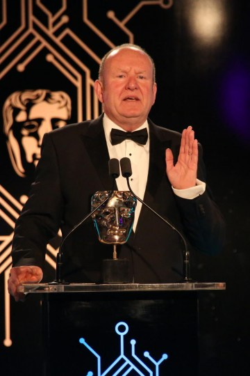 Ian Livingstone CBE presents the award for Best Game