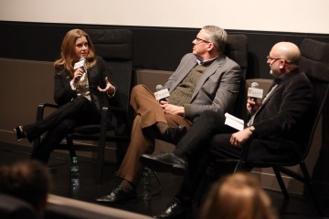 Amy Adams, Adam McKay and Joe Neumaier