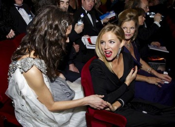 Sienna Miller and Marion Cotillard at the 2008 Film Awards
