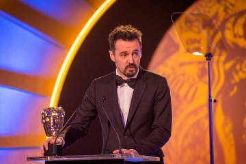 Andy Worbuys picks up the Editing: Factual Award for Hillsborough