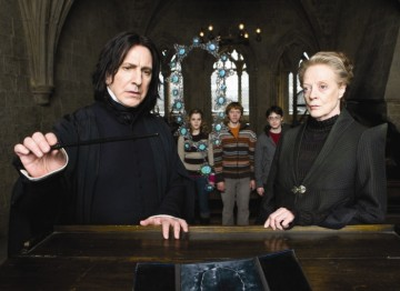 Alan Rickman and Dame Maggie Smith head up a strong British cast in the sixth film in the series. The cast also includes Jim Broadbent, JulieWalters andTimothy Spall.