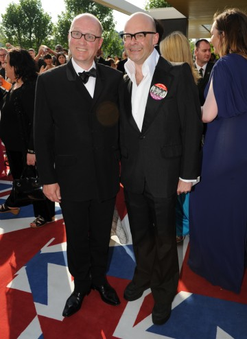 The Ade in Britain presenter with Entertainment Performance nominee Harry Hill.