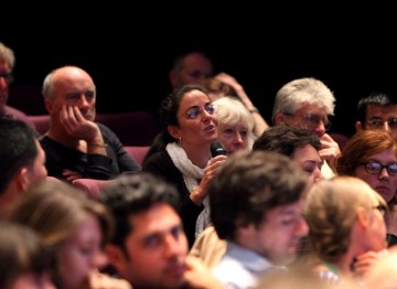 More questions asked at the Christopher Hampton Lecture. (Photography: Jay Brooks)
