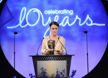 Dead Set star Jaime Winstone presented the award for Make Up and Hair Design (BAFTA / Richard Kendal).