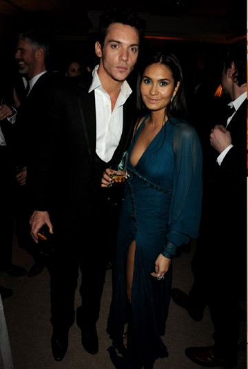 Jonathan Rhys Meyers and guest at the Official Soho House and Grey Goose party for the Orange British Academy Film Awards.