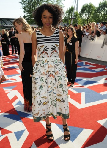 The Slap and Sinbad star will present the BAFTA for Leading Actor. She wears a delightful summer dress by Mother of Pearl.