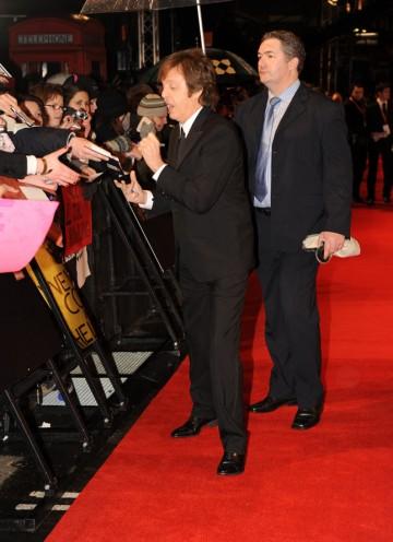 The legendary Sir Paul McCartney arrives to present the Original Score BAFTA. (Pic: BAFTA/Richard Kendal)